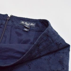 J. Crew Skirts - J. Crew Navy Blue Floral Embroidered Pencil Skirt